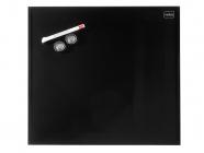 Skleněná magnetická tabule černá 30x30 cm