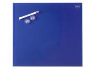 Skleněná magnetická tabule modrá 45x45 cm