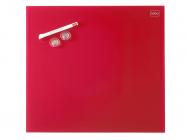 Skleněná magnetická tabule červená 30x30 cm