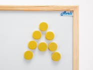 Set magnetů AVELI, žlutá barva