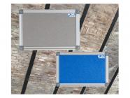 Textilní nástěnka AVELI 45x60 cm modrá, hliník.rám
